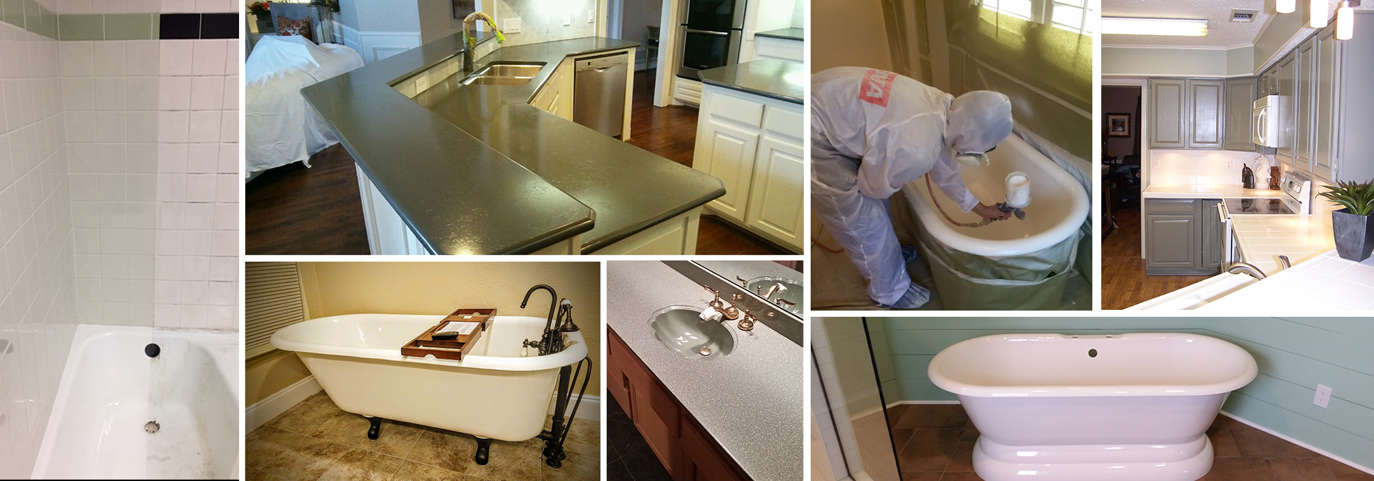 Compilation of Our Surface Refinishing Services in Richardson, TX